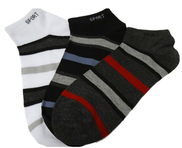 12 24 herren sneaker socken freizeitsocken f linge sportsocken gestreift bunt 5 ebay. Black Bedroom Furniture Sets. Home Design Ideas